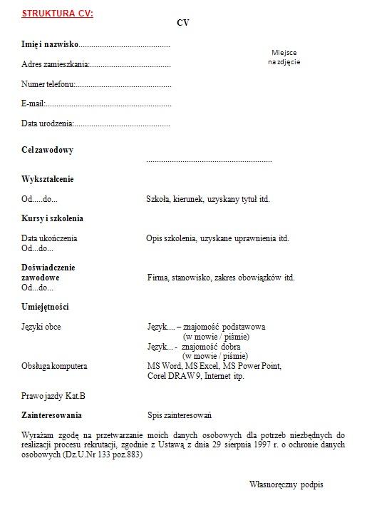 Techniki Konstruowania Cv I Listu Motywacyjnego Europejska Szkoła